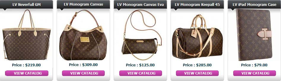 louis vuitton bags prices in usa